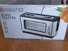 Brand new glass toaster