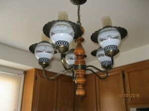 Colonial ceiling chandelier