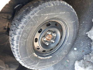 Cooper Discovery Ice Tires for Ram 1500.  Studded