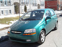 2005 CHEVROLET AVEO 5*1.6L AIR CLIMATISEUR*HACHBACK*4CLY**123KM*