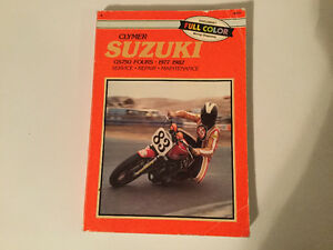 Suzuki GS750 Fours 1977-1982 Shop Manual GS750L GS750E GS750T