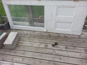 wooden door with window Stratford Kitchener Area image 2