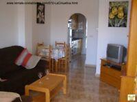 Costa Blanca, Spain. 2 bedroom 1st floor apt, sleeps 4, Wi-Fi, English TV, A/C, £245 (SM072)