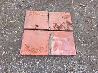 Large Victorian Red Quarry tiles