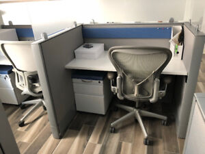 Workstations/cubicles/Aeron & Zody Tasks chairs