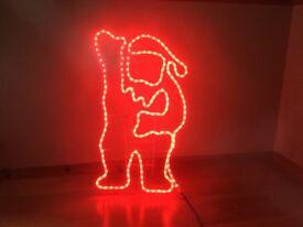 Red Outdoor/Indoor Santa Light