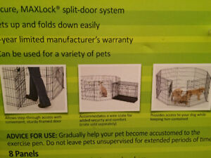 Portable exercise pen for dogs