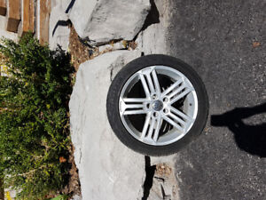 "17""  VW wheels with Continental all season tires"