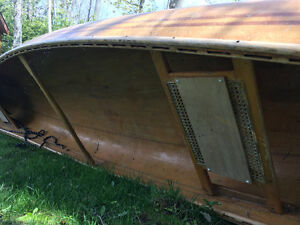 Wood Canoe 14 feet approx.