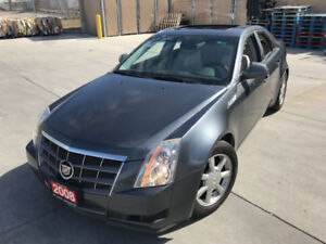 2008 Cadillac CTS, Leather, sunroof, Low km, 3/Y warranty availa