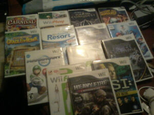 Lightly used! Lots of WII Games and Accessories with console!