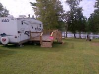 5th Wheel Jayco Eagle Trailer on White Lake Water Front Lot
