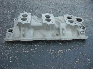 Edelbrock Tri-Power Chevy Intake Manifold for 265 SBC