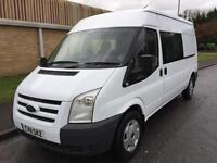 11(11) FORD TRANSIT 350 LWB MEDIUM ROOF CREW CAB 2.4 RWD 6 SPEED 115 BHP
