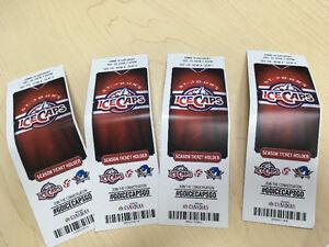 6 ticket ice caps this Saturday night