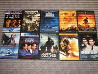 DVDS 10 WAR MOVIES.ALL MINT NO SCRATCHES - OBO.