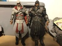 RARE Assassin's Creed Figures Ezio Black and White