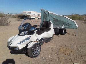 2013 CAN AM SPYDER SE5 LIMTED & TENT TRAILOR