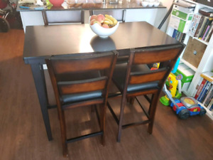 High table Ashley Furniture with chairs
