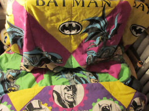 DC Comics BATMAN Bed Sheet Blanket Comforter Catwoman Penguin