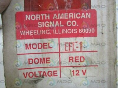 North American Signal Co. 12v Dome Red Efl1-r New In Box