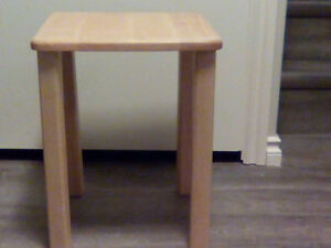 Small oak colored wooden table
