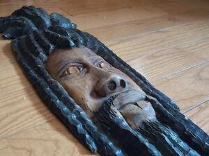 Rastafari Mask (made from wood)