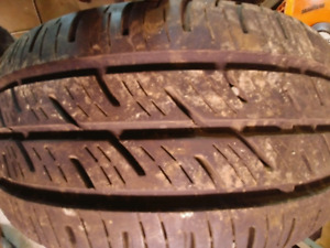 2 Tires Continental 195/65/15 used summer tires 70%
