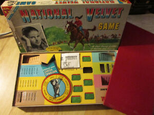 NATIONAL VELVET Horse Equine Board Game Vintage 1961 Transogram