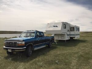 Truck and Camper trailer
