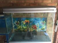 300L Aquarium Fish Tank with Hood and light