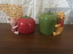 Winnie the Pooh and piglet salt and pepper shakers