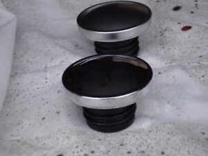 Stock Harley Davidson gas caps. Silver and Chrome sold as each.