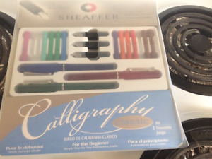 Sheaffer Calligraphy set extra tips and ink