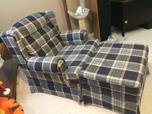 Chair and ottoman Peterborough Peterborough Area image 1