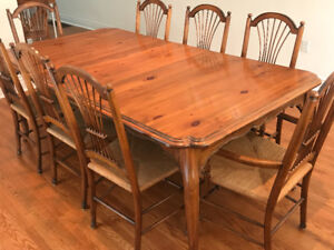 French Provincial Dining room set by Ethan Allan