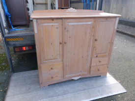 St michael furniture, childs wardrobe in washed pine