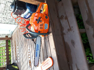 """Chainsaw husqvarna 455 rancher 55cc 18""""blade BRAND NEW USED ONCE"""