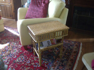 SMALL VINTAGE BAMBOO TABLE