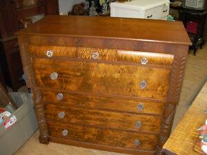 1890's Bird's Eye Maple Bonnet Chest Cambridge Kitchener Area image 1