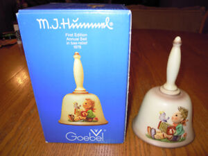 M.J.Hummel - Annual Bells w/box NOW 1978 - 1987 $4.99 to $21.99