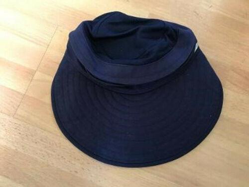 Mission ENDURACOOL Multi Cool BEACH HAT Visor w/ zipper BLUE - NEW