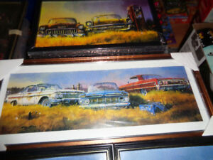 Framed Picture 1959-64 Chevy,s Pepsi Cola Cooler