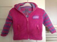 Girls pink/ purple Pachamamita knitted hoodie age 3-4