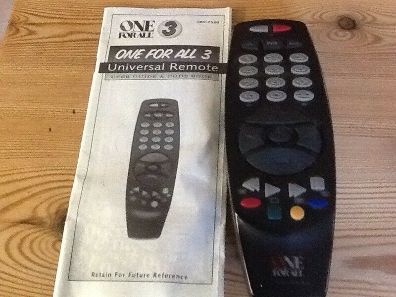 Universal Remote Control With Instructions In Lowestoft Suffolk