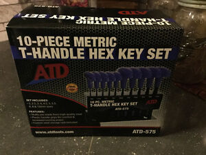 New ATD Tools 10-Piece Metric T-Handle Hex Key Set
