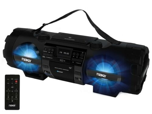 Naxa Npb-262 Mp3/Cd Bass Reflex Boom Box & Pa System with Bl