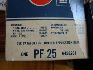 PF25 NOS original oil filters date codes vary