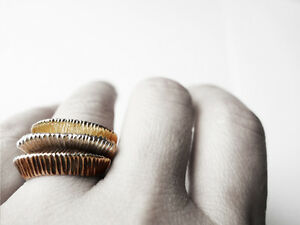 10K Gold Ring, Unique Gold Ring, Handcrafted Art Jewellery J Lim