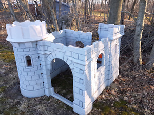 Outdoor kids castle and climber